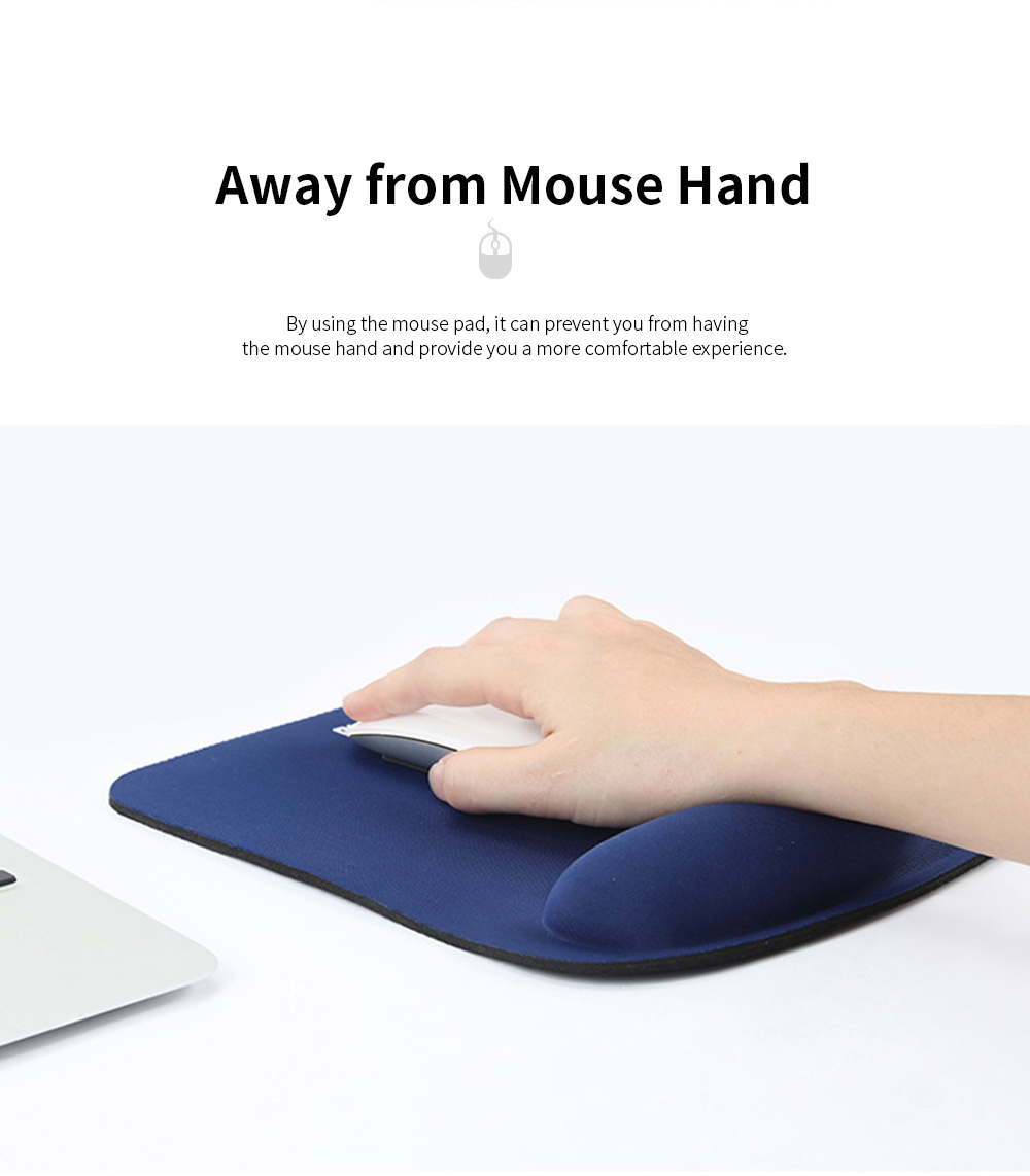 Silicone Mouse Pad Large Size Anti-slip Wrist Protector Supporter Gaming Mat with Memory Foam 5
