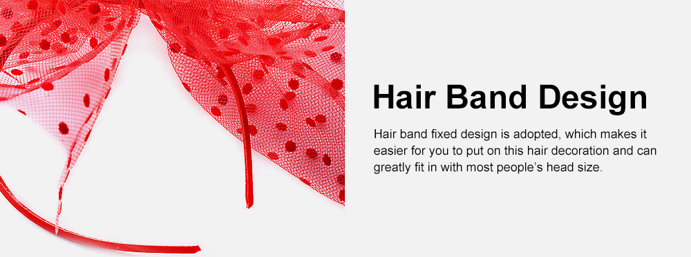 Fancy Flower Model Mesh Feather Decoration Hair Band, Delicate Evening Party Ladies Hair Decoration Ornament 5