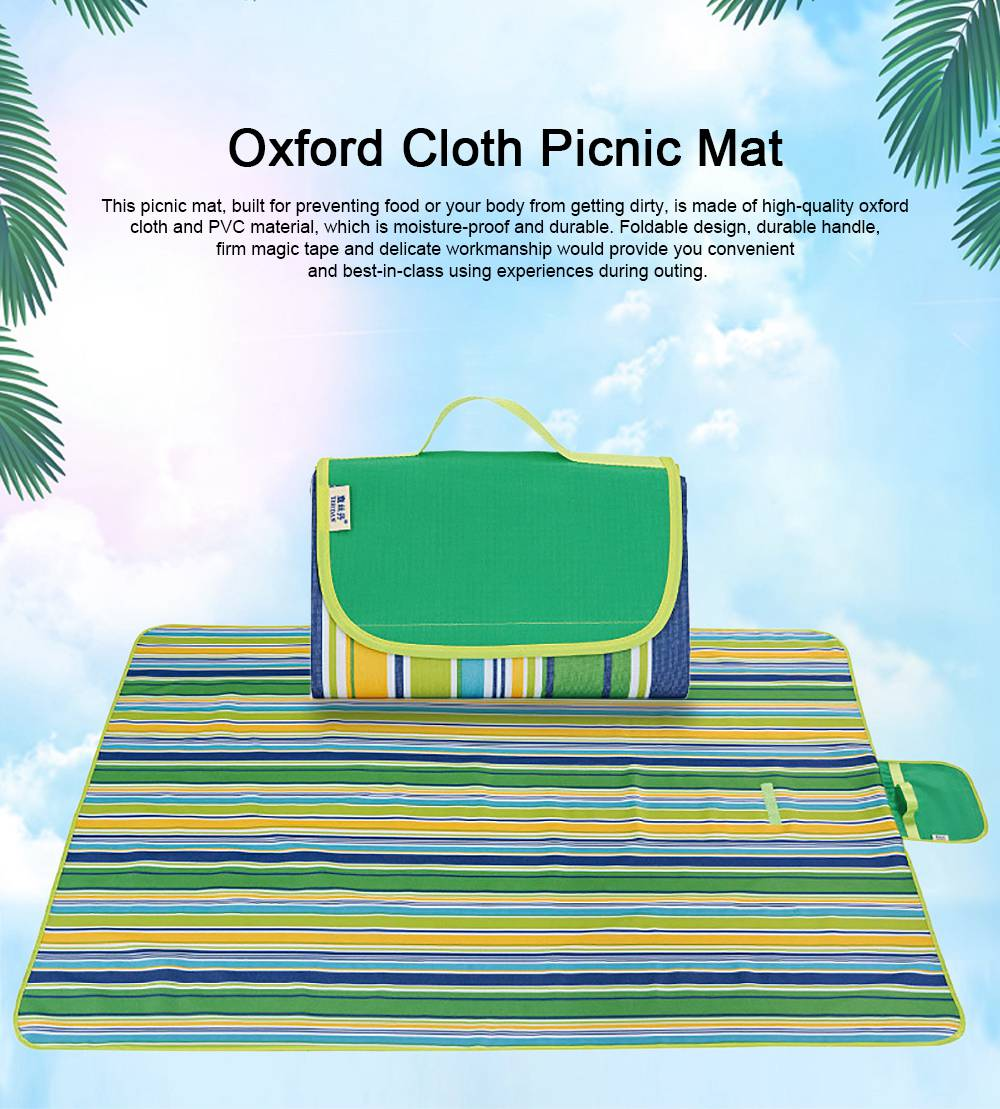 Delicate Painting Moisture-proof Waterproof Oxford Cloth Picnic Grass Blanket Camping Mat Outdoors Accessories 0