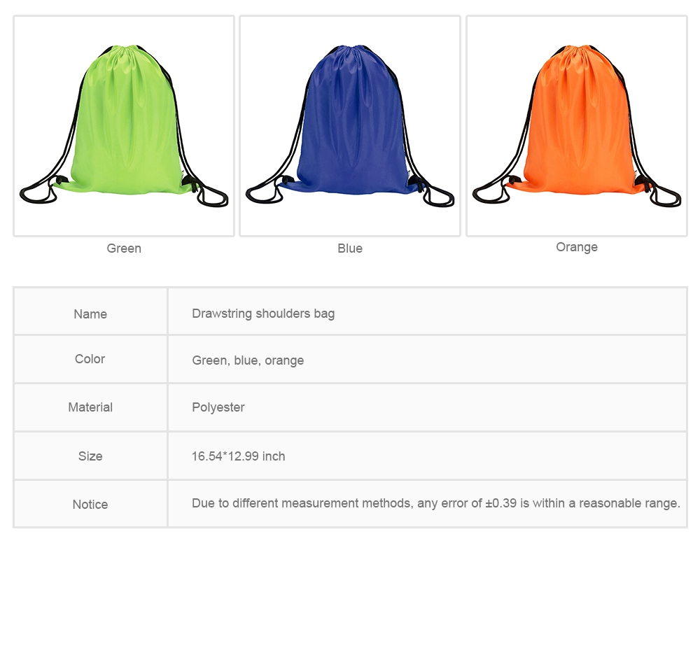 Minimalist Waterproof Moisture-proof Drawstring Shoulders Bag for Storing Picnic Mat Daily Objects Outdoors Accessories 7