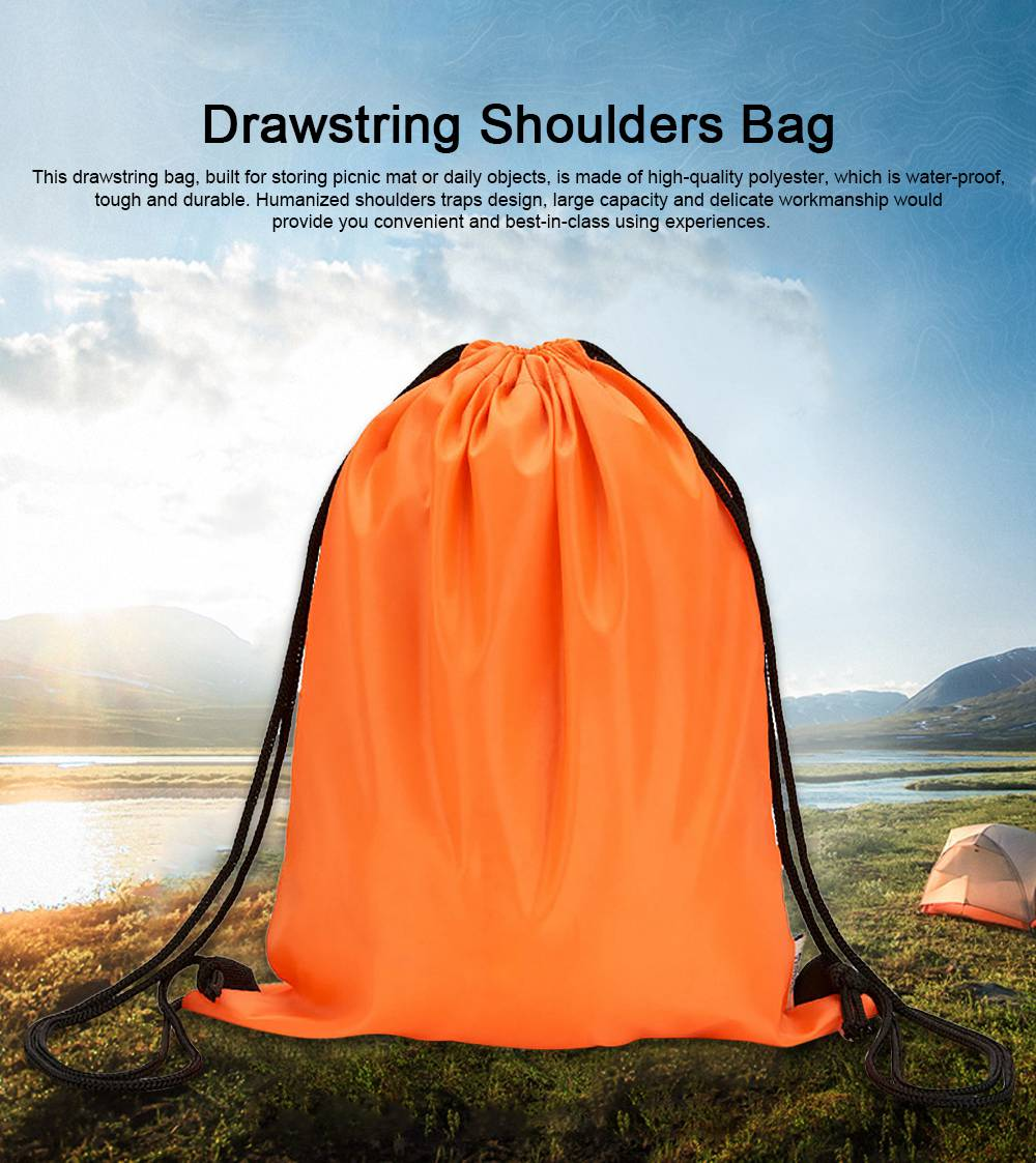 Minimalist Waterproof Moisture-proof Drawstring Shoulders Bag for Storing Picnic Mat Daily Objects Outdoors Accessories 0