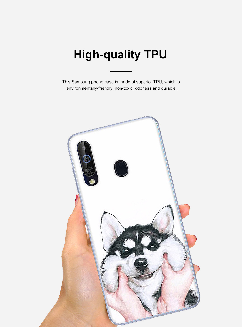 Cute Stylish Cartoon Painting Samsung Galaxy A60 Phone Case, Soft Flexible Breaking-proof TPU Samsung Phone Protective Cover 5