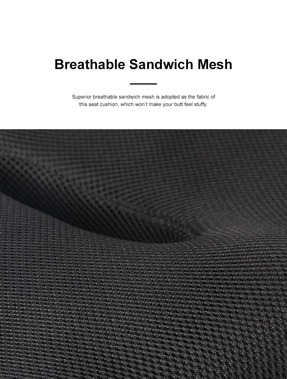 Ultra-soft Breathable Mesh Fabric Memory Foam Seat Cushion, Hollow Humanized Car Office Chair Seat Pillow 5