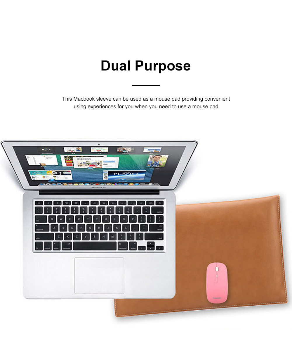 Soft Scratching-proof Leather Macbook Bag Pouch, Envelop Model Laptop Protective Cover for Macbook 11inch 12inch 13.3inch Air 15.4inch 1