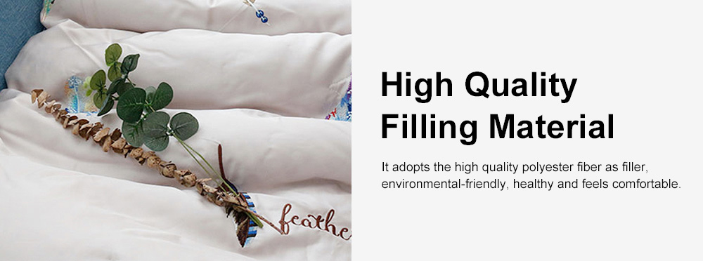 Embroidered Thin Double Summer Quilt Size High Quality Tencel Material Air Conditioning Cool Quilt 5