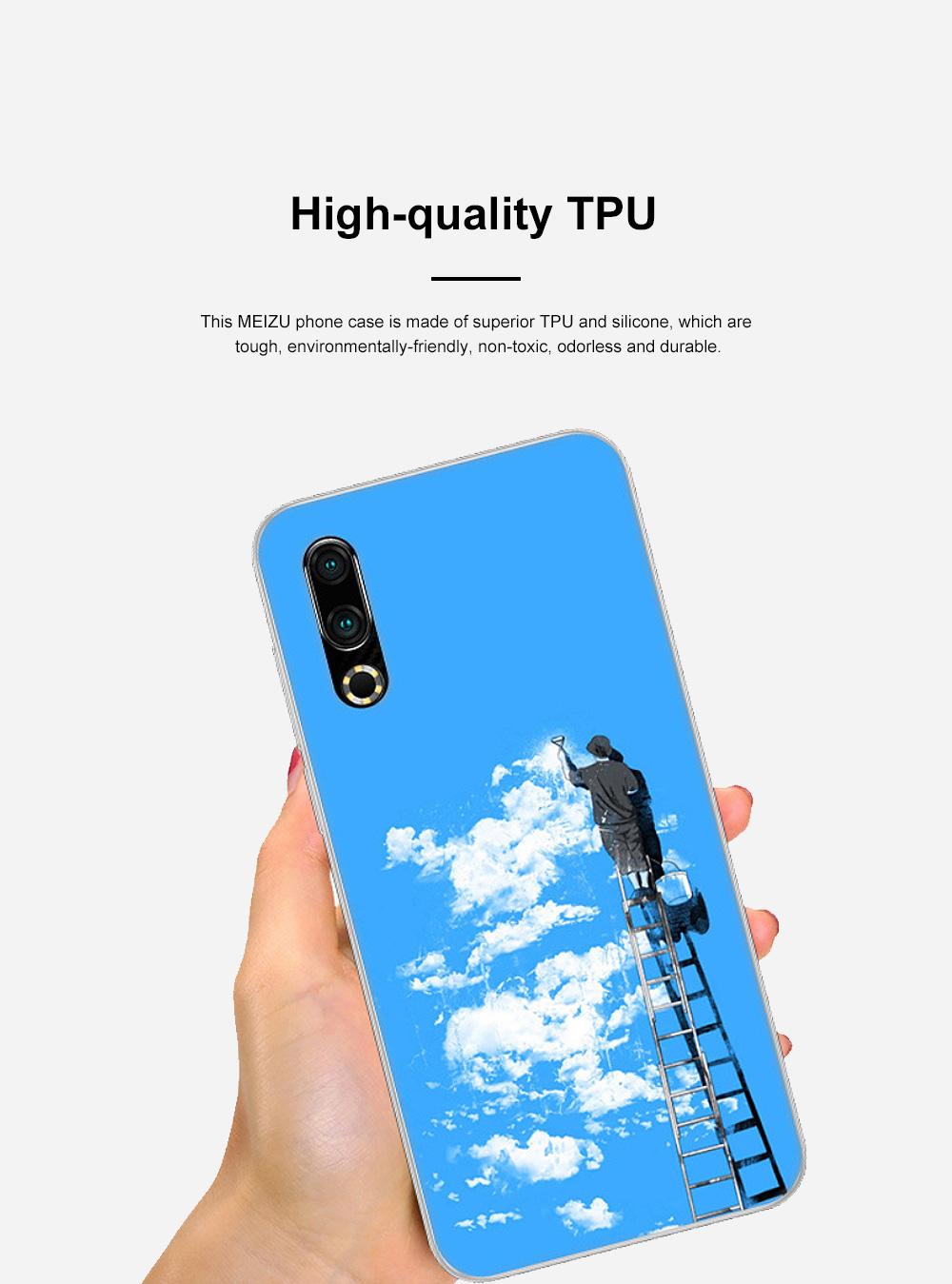Fancy Cute Carton Painting MEIZU 16S Phone Case, Ultra-soft Silicone TPU MEIZU Creative Phone Protective Cover 5