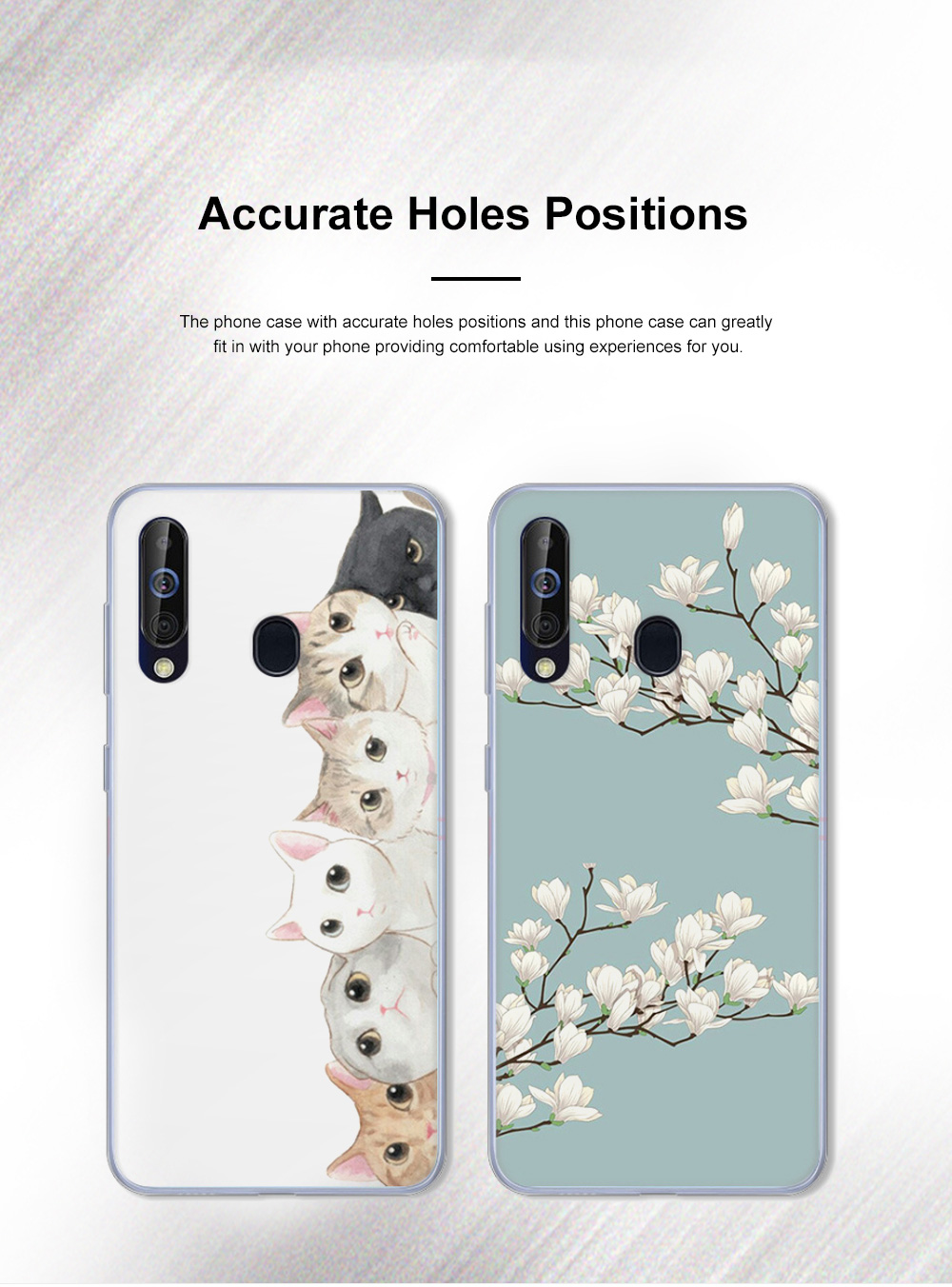 Cute Stylish Cartoon Painting Samsung Galaxy A60 Phone Case, Soft Flexible Breaking-proof TPU Samsung Phone Protective Cover 2