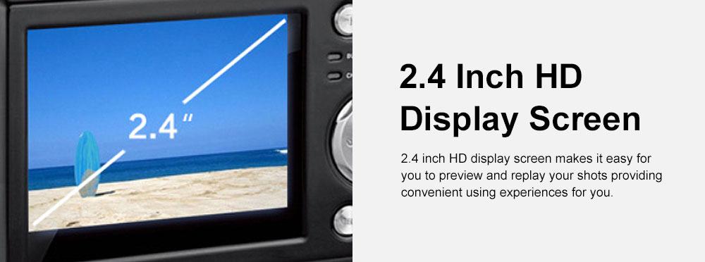 Portable Minimalist HD High Pixel Waterproof Digital Camera Sport Motion Cam with 2.4 Inch Display Screen 5
