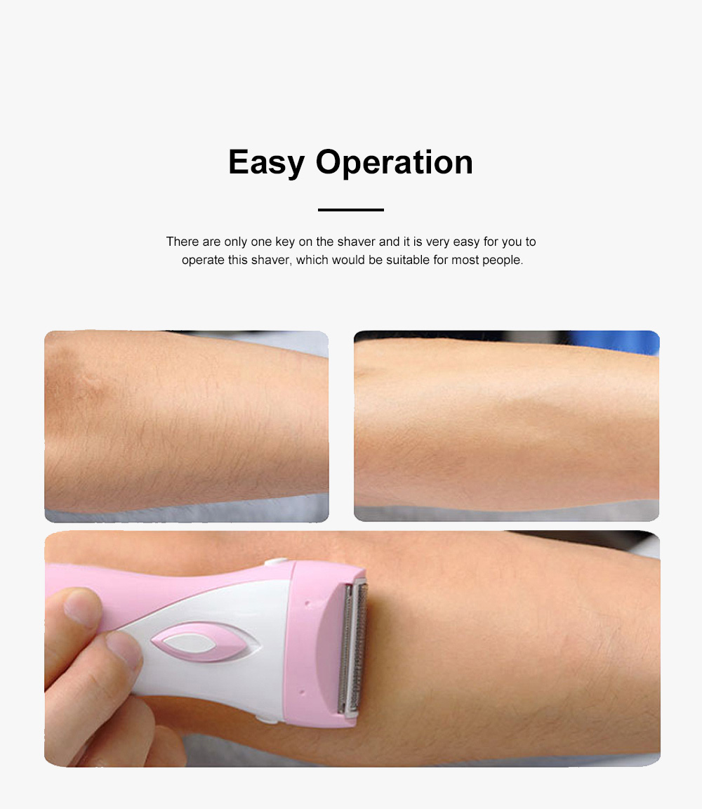 Portable Handy Rechargeable Female Painless Digital Shaver Armpit Hair Shank-Feathering Pubes Grainer for Ladies 3