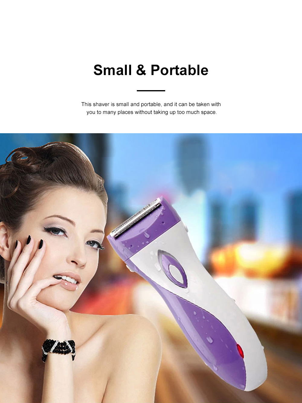 Portable Handy Rechargeable Female Painless Digital Shaver Armpit Hair Shank-Feathering Pubes Grainer for Ladies 1