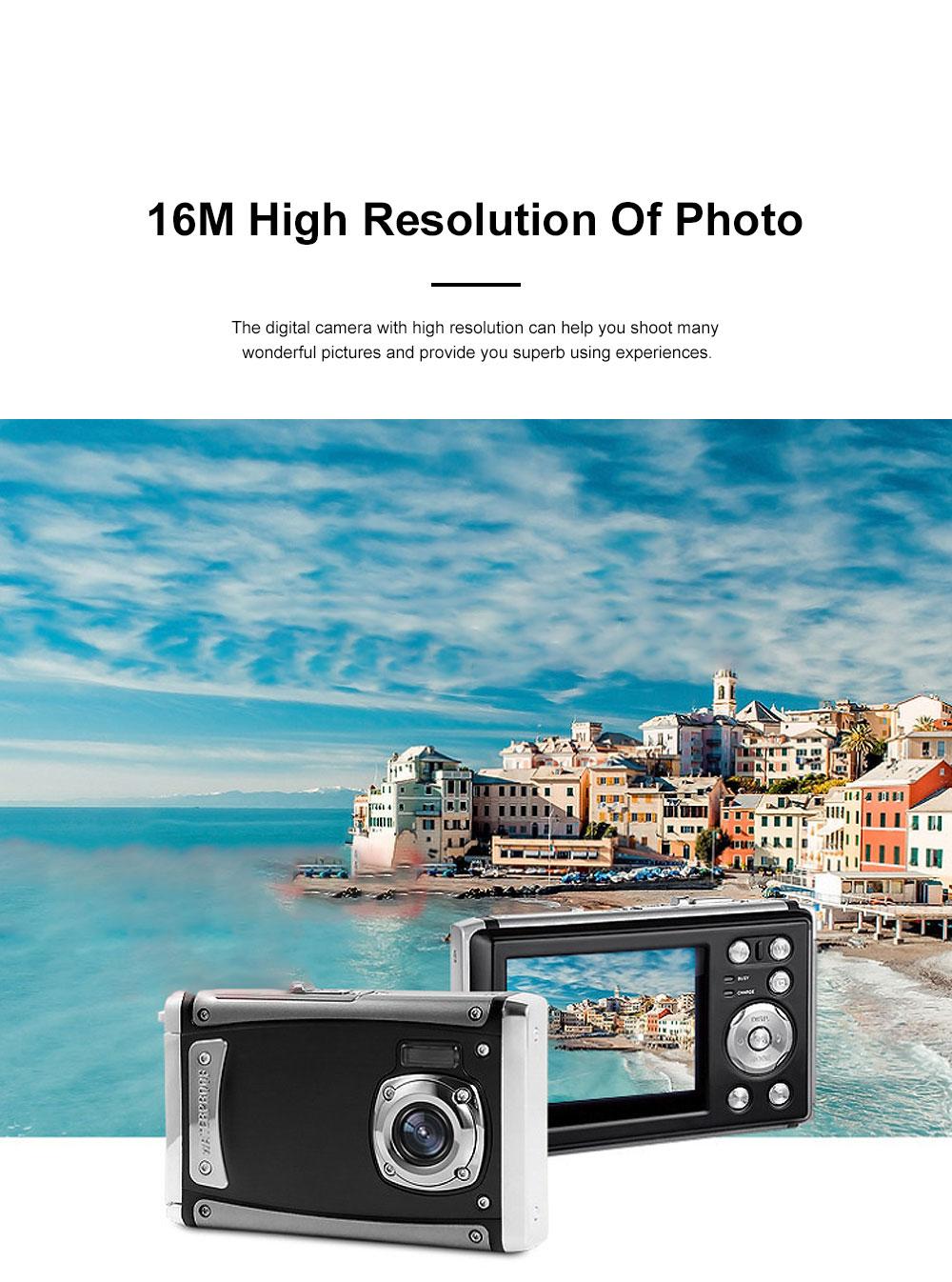 Portable Minimalist HD High Pixel Waterproof Digital Camera Sport Motion Cam with 2.4 Inch Display Screen 2