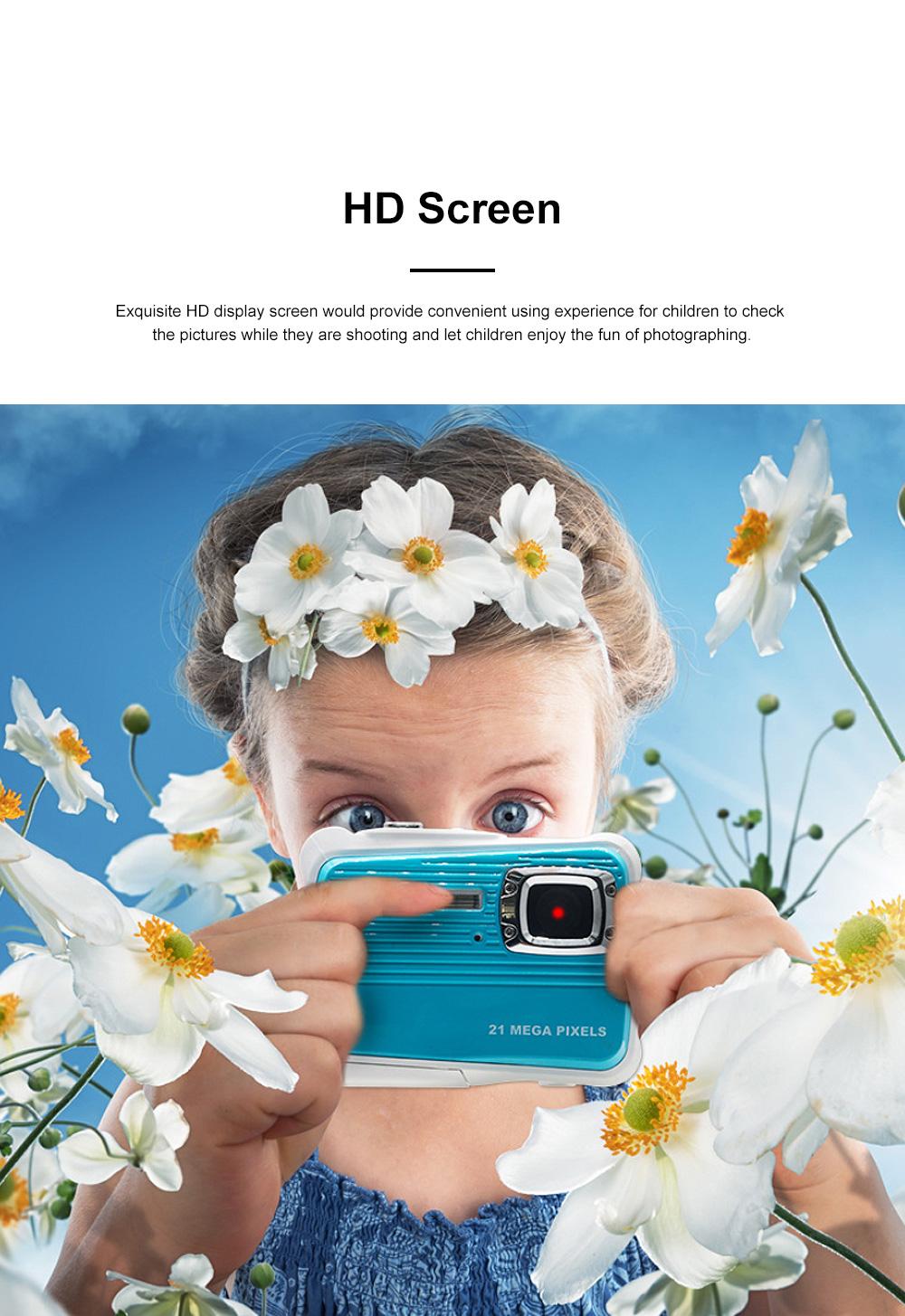 Delicate Portable Breaking-proof 3M Waterproof Children HD Digital Camera 21 Million Pixels Cam for Kids 1