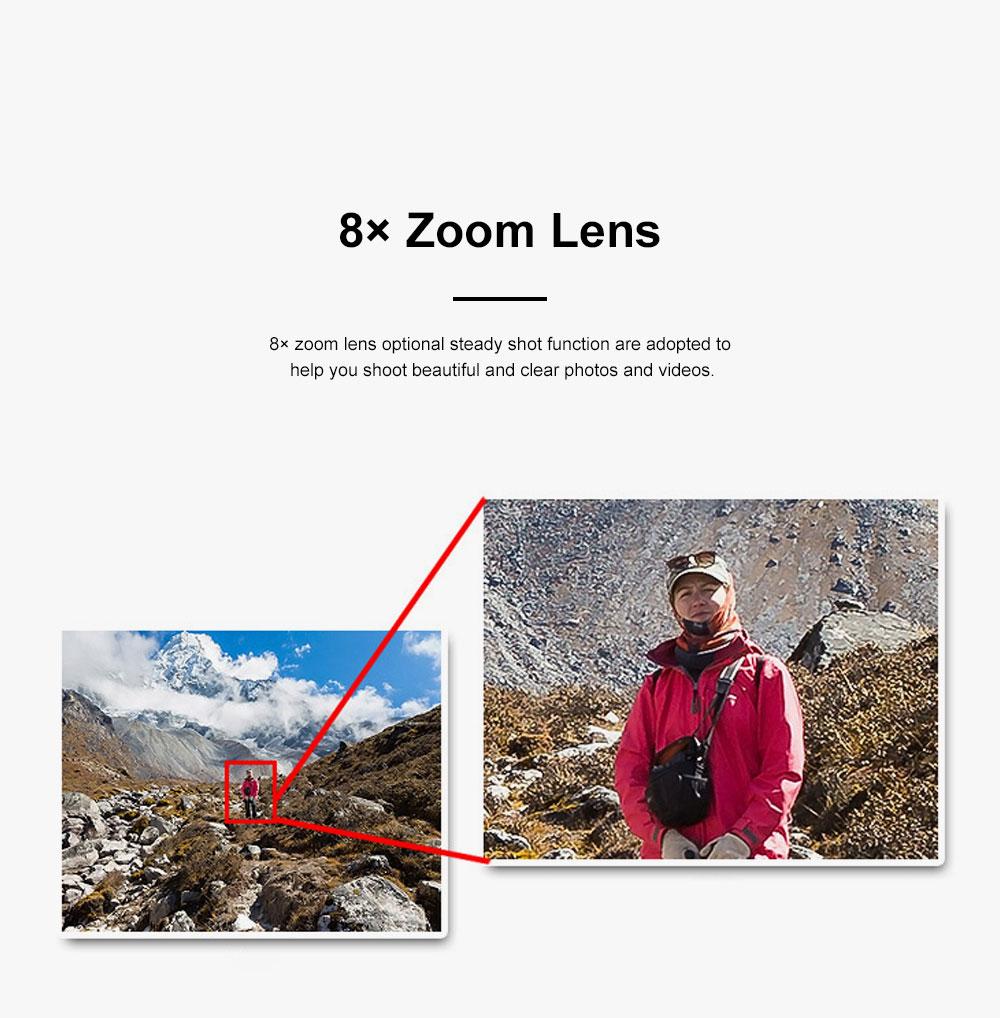 Portable Minimalist HD High Pixel Waterproof Digital Camera Sport Motion Cam with 2.4 Inch Display Screen 3