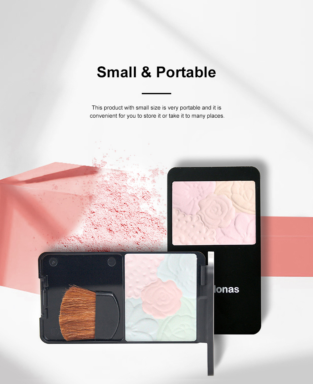 Fine Exquisite Flower Model Multicolor Highlight Pressed Powder Skin Brighten Shading Powder Cosmetic Accessories 1