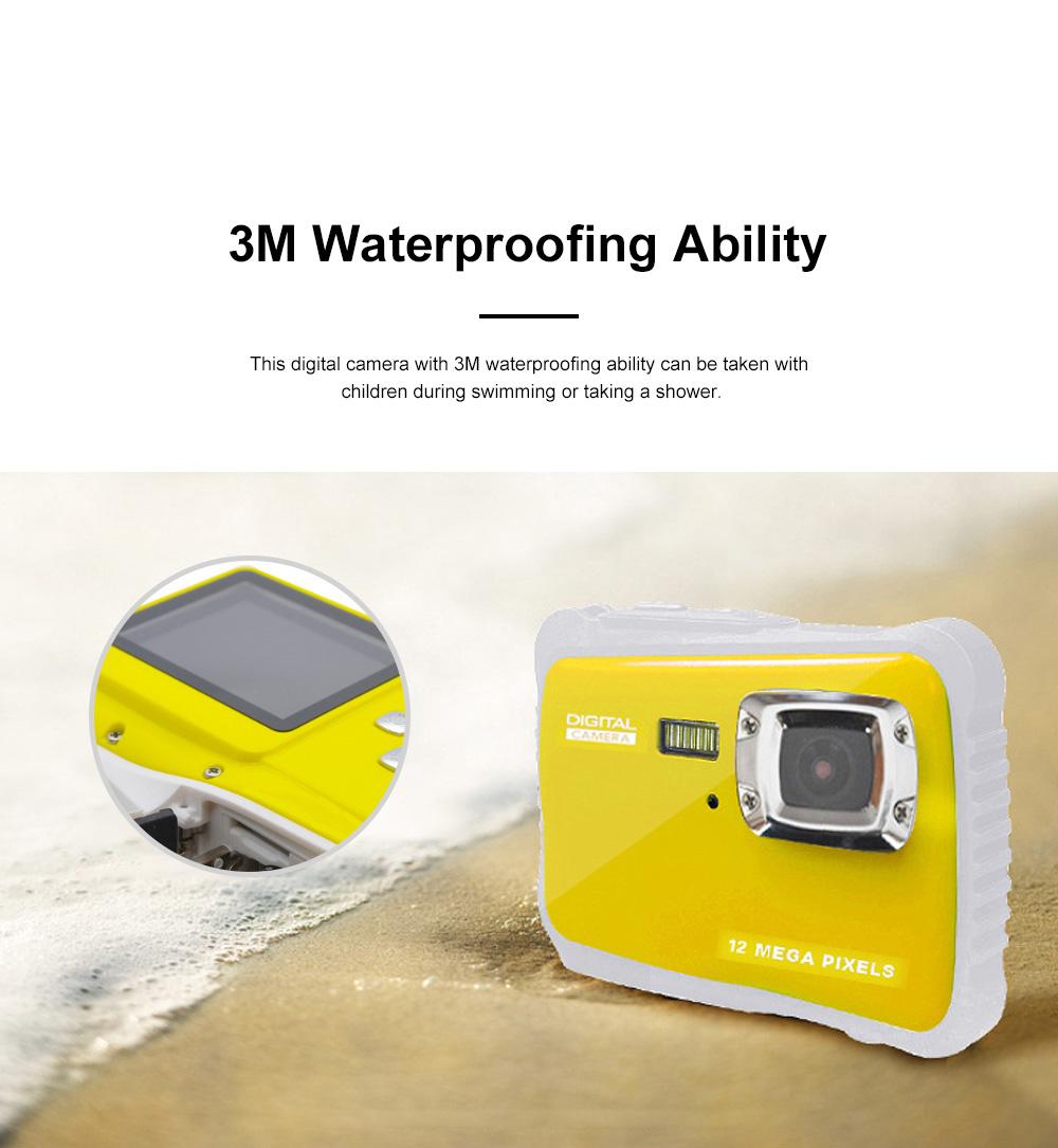 Cute Portable HD Waterproof Shock-proof 12 Million Pixels Zoom Digital Camera for Children 3M Waterproofing Cam 2