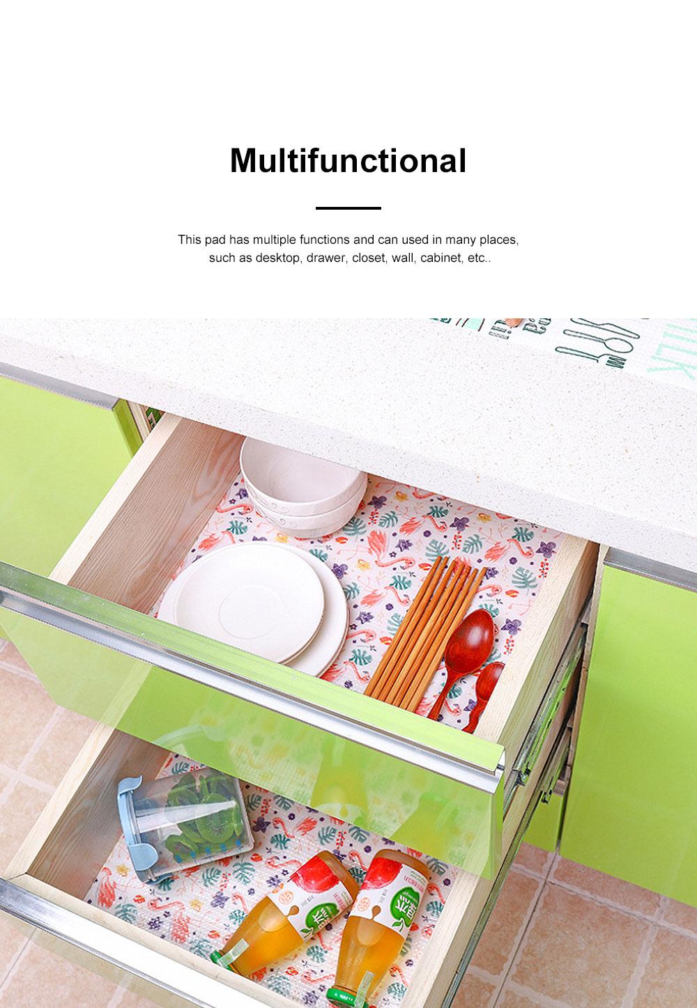 Cute Stylish Carton Painting Cuttable Waterproof Moisture-proof Oil-proof Drawer Wardrobe Closet Kitchen Cabinet Pad Mat 1