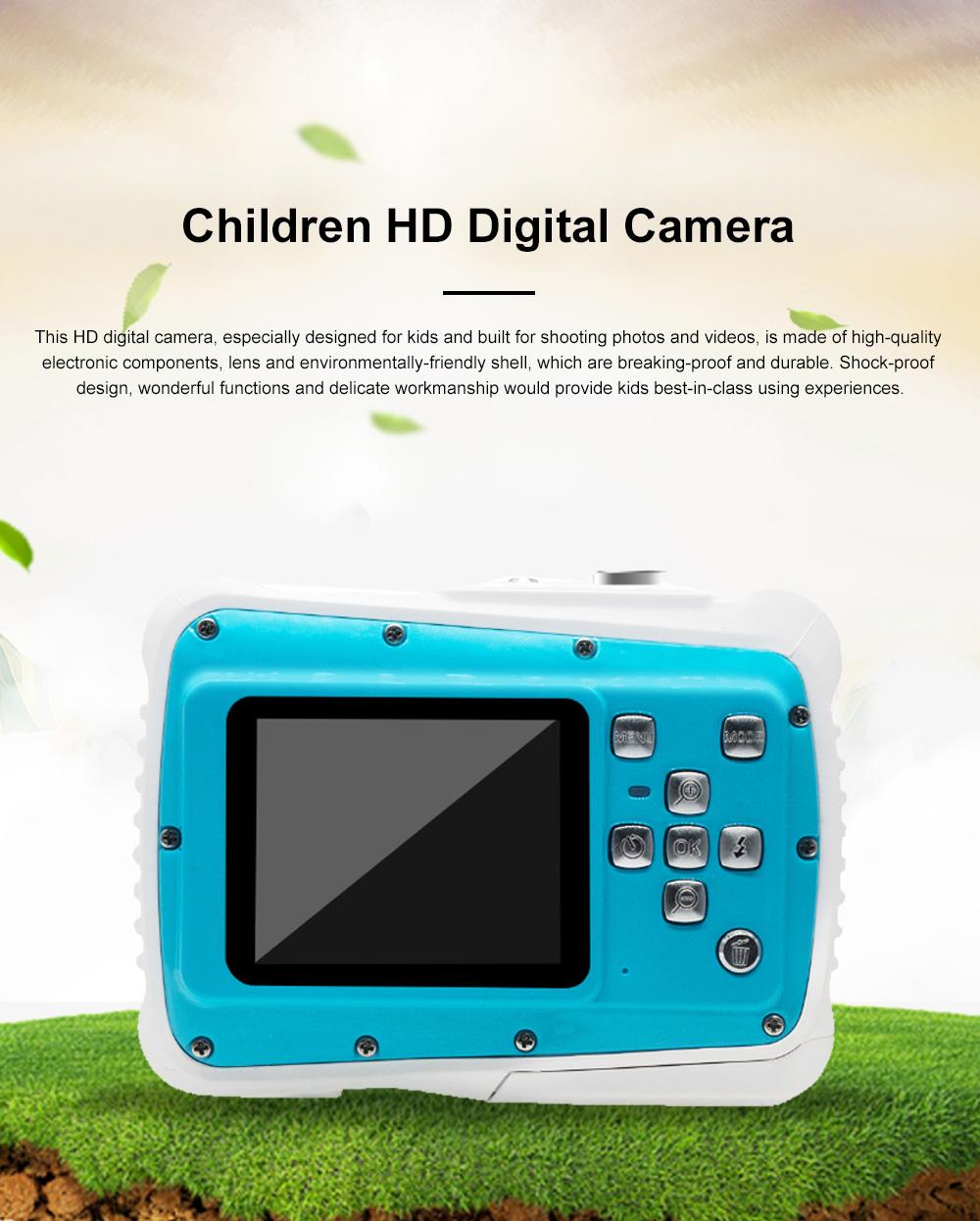 Delicate Portable Breaking-proof 3M Waterproof Children HD Digital Camera 21 Million Pixels Cam for Kids 0