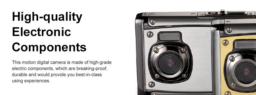 Portable Minimalist HD High Pixel Waterproof Digital Camera Sport Motion Cam with 2.4 Inch Display Screen 4