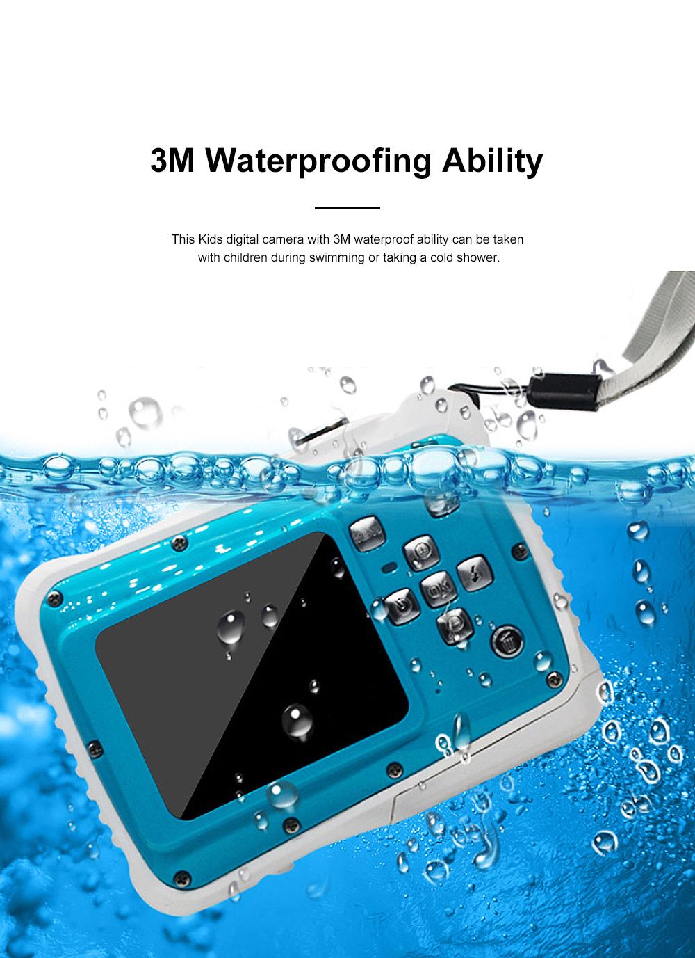 Delicate Portable Breaking-proof 3M Waterproof Children HD Digital Camera 21 Million Pixels Cam for Kids 2