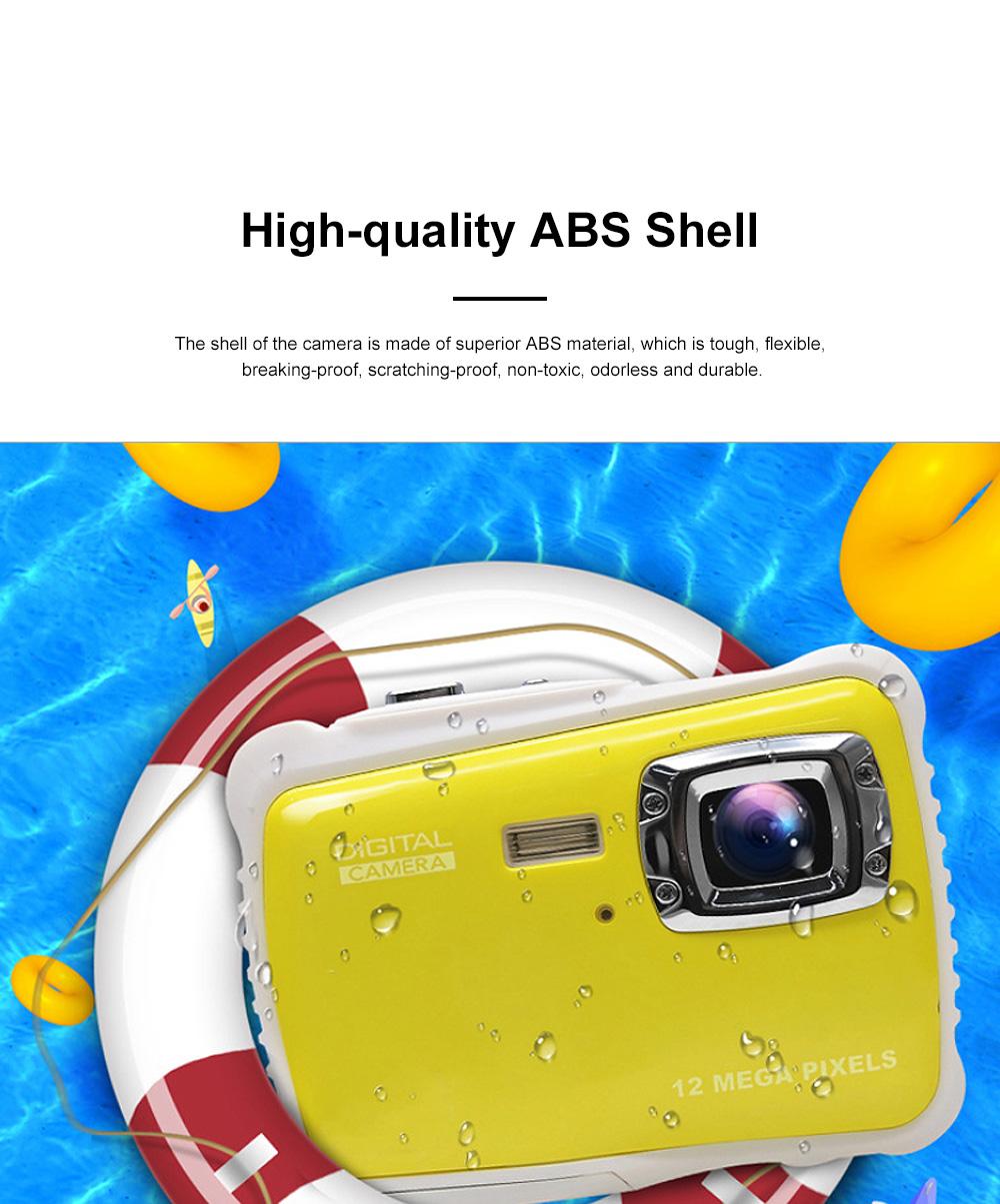 Cute Portable HD Waterproof Shock-proof 12 Million Pixels Zoom Digital Camera for Children 3M Waterproofing Cam 1