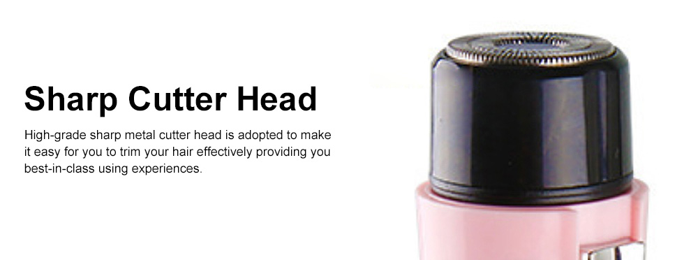 Handy Small Delicate Pink Female Male Grainer Epilator Armpit Hair Legs Shank-feathering Whole Body Denuding Machine 4