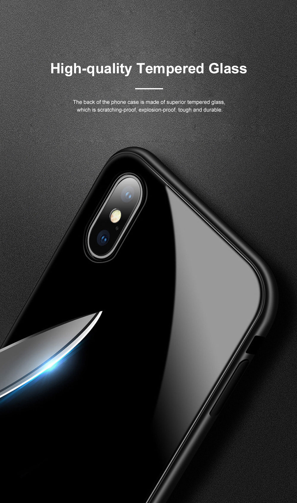 Minimalist Delicate Firmed Magnetic Catche Glass Samsung Phone Case Shock-proof Aluminum Alloy Phone Protective Cover For Samsung note 9, Samsung S9, Samsung s9 plus 1