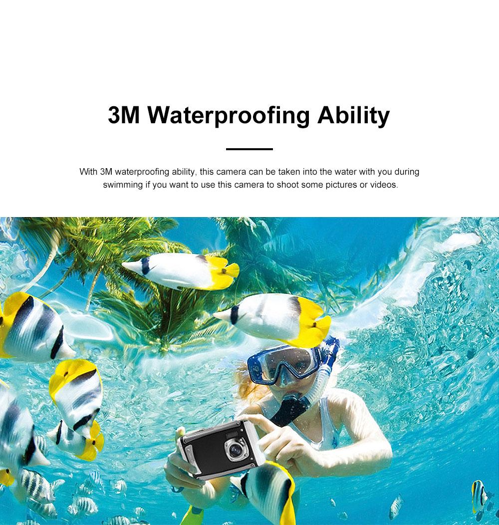 Portable Minimalist HD High Pixel Waterproof Digital Camera Sport Motion Cam with 2.4 Inch Display Screen 1