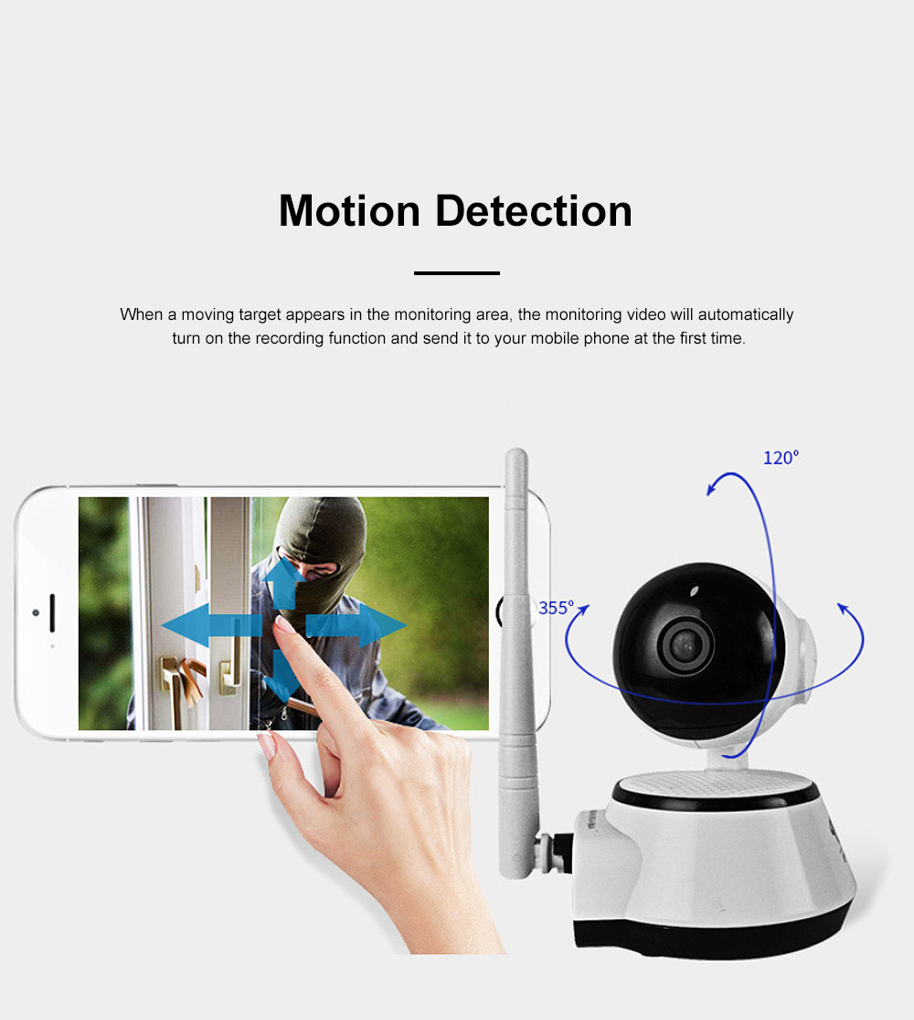 Household Security IP Cam Rotatable Wireless Intelligent Monitor WIFI Camera with Infrared Night Vision Motion Detection 4