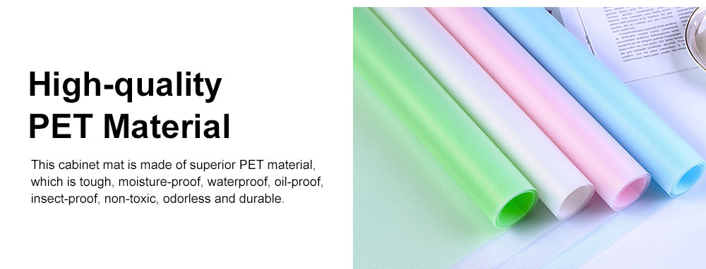 Simple Transparent Cuttable Tailorable Waterproof Moisture-proof Dust-proof Drawer Wardrobe Pad Oil-proof Cabinet Mat 4