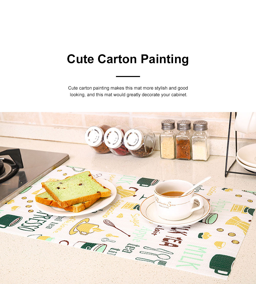 Cute Stylish Carton Painting Cuttable Waterproof Moisture-proof Oil-proof Drawer Wardrobe Closet Kitchen Cabinet Pad Mat 3