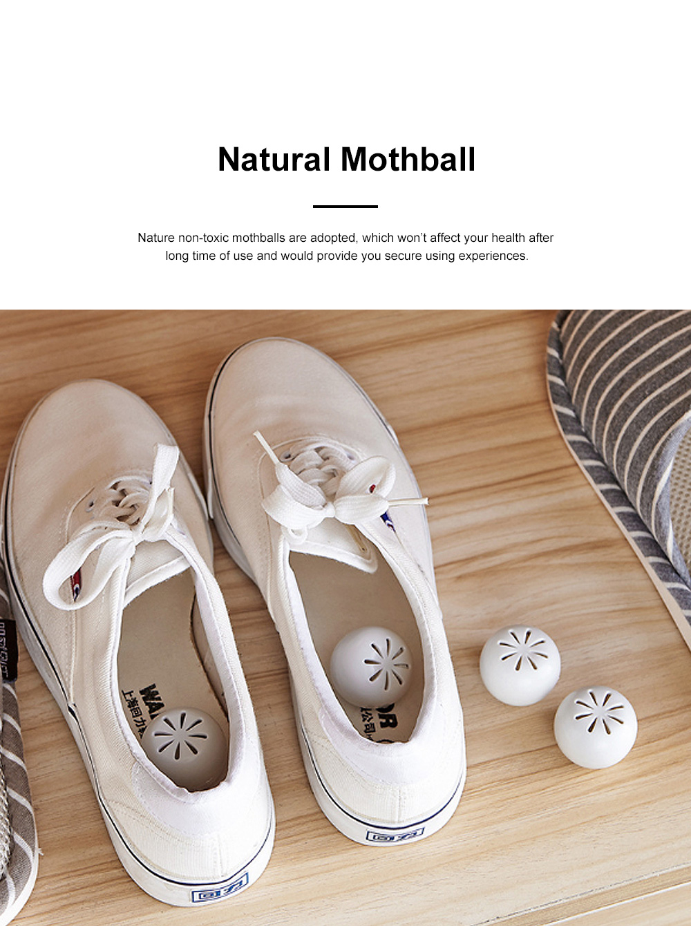 Small Exquisite Closet Wardrobe Bookcase Room Insect Prevention Mothproof Moisture-proof 8PCS Mothball Camphor Ball Set 1