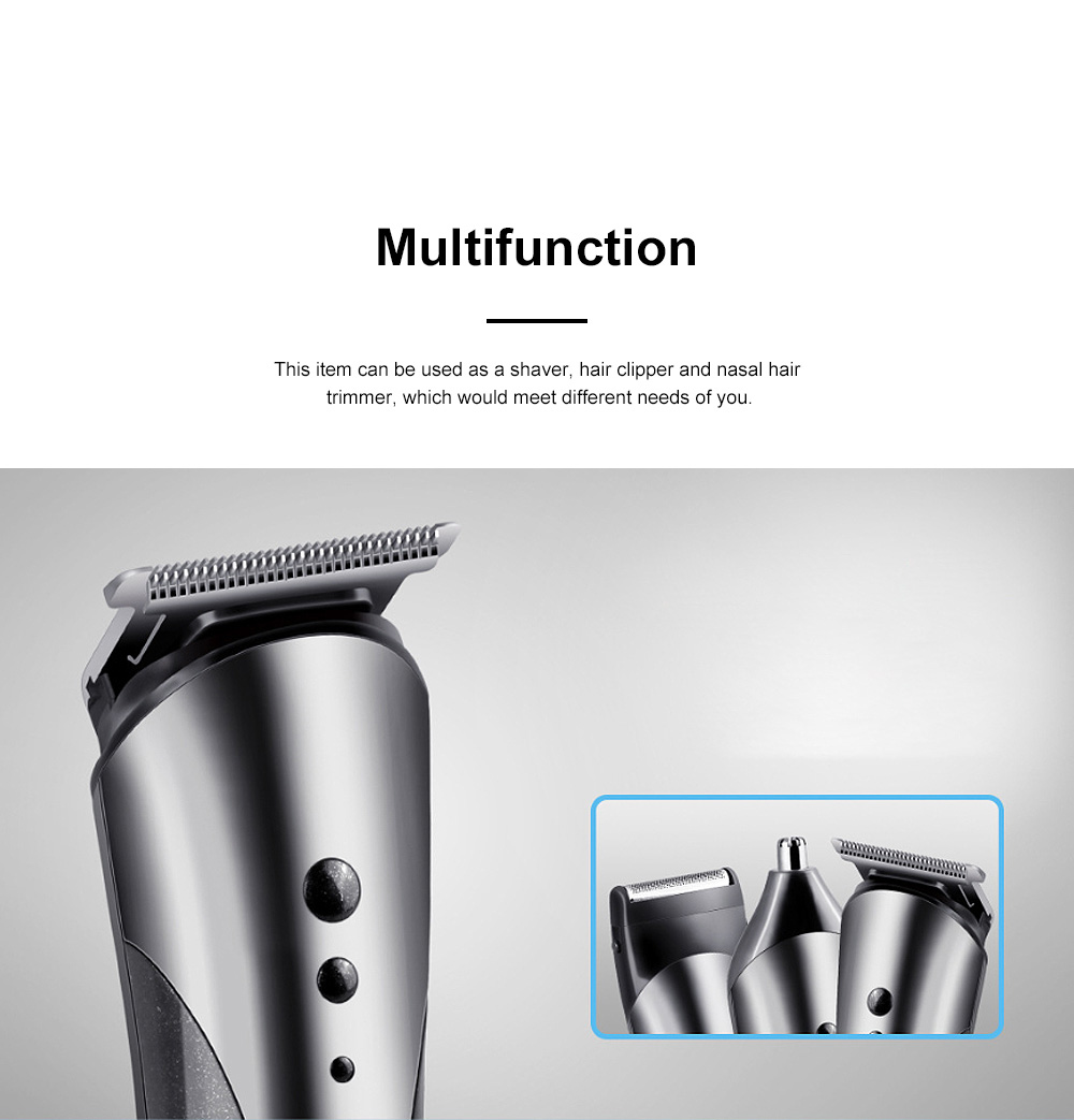 Multifunction Portable Washable Strong Power Bread Digital Shaver Nasal Hair Trimmer Hair Clipper with Floating Head 1