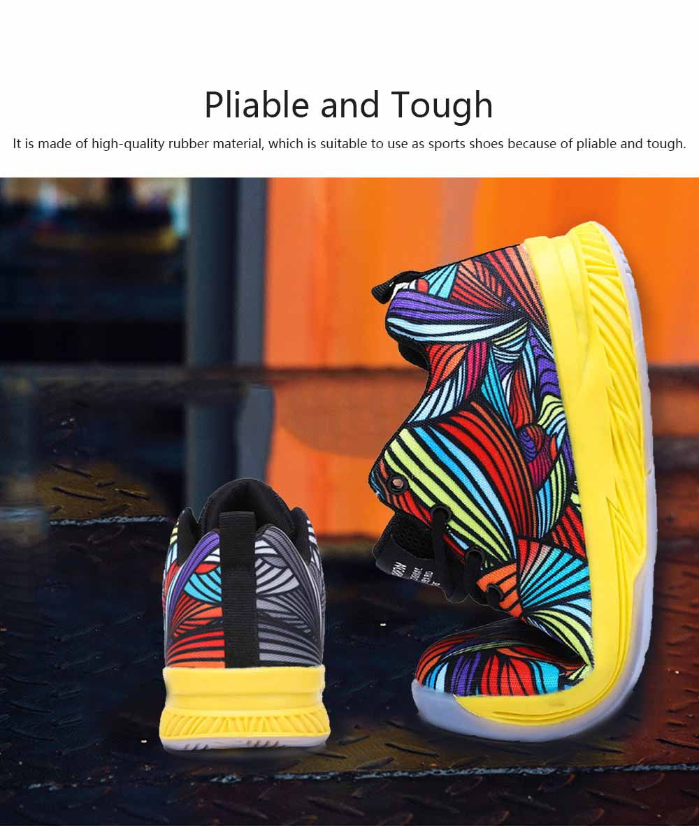 Comfortable Sports Shoes for Men Fashion Color Matching Microfiber Leather Support and Protect Ankle Sneakers for Four Seasons 5