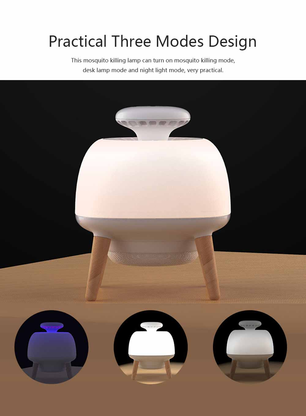 Silent Mosquito Repellent for Baby Pregnant Women Elderly Intelligent Light Control Mosquito-killing Lamp 3