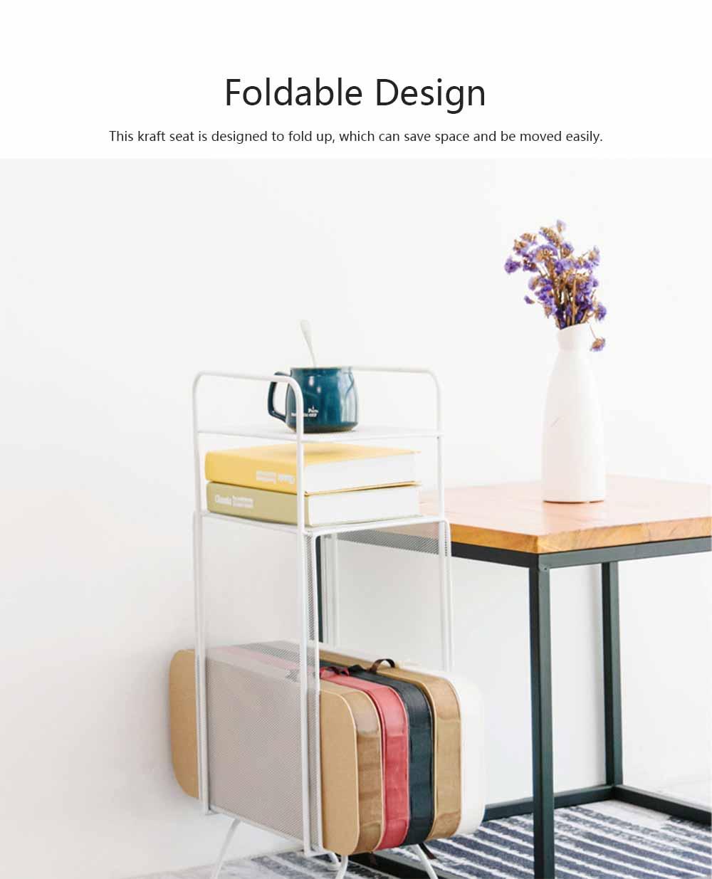 Portable Creative Folding Kraft Stool with High Load Bearing Capacity Kraft Sofa Single Stool Waterproof 1
