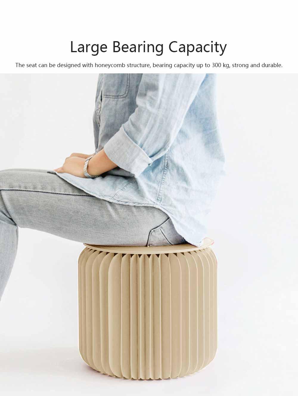 Portable Creative Folding Kraft Stool with High Load Bearing Capacity Kraft Sofa Single Stool Waterproof 5