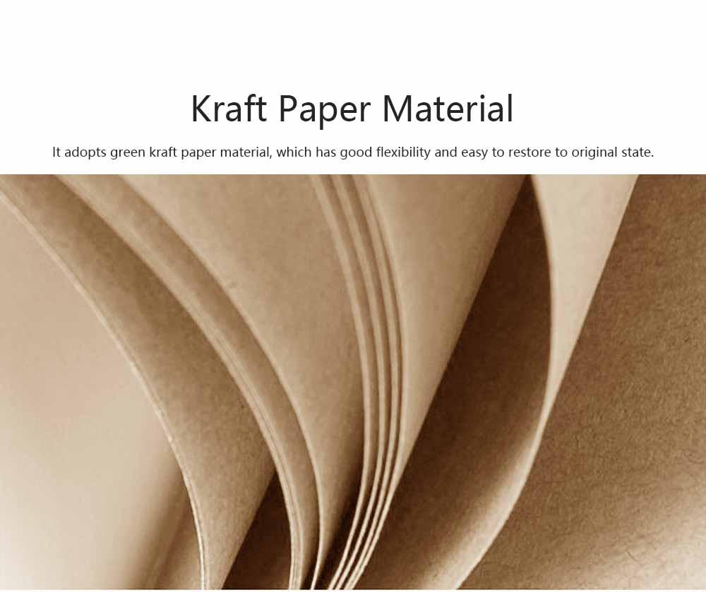 Portable Creative Folding Kraft Stool with High Load Bearing Capacity Kraft Sofa Single Stool Waterproof 3