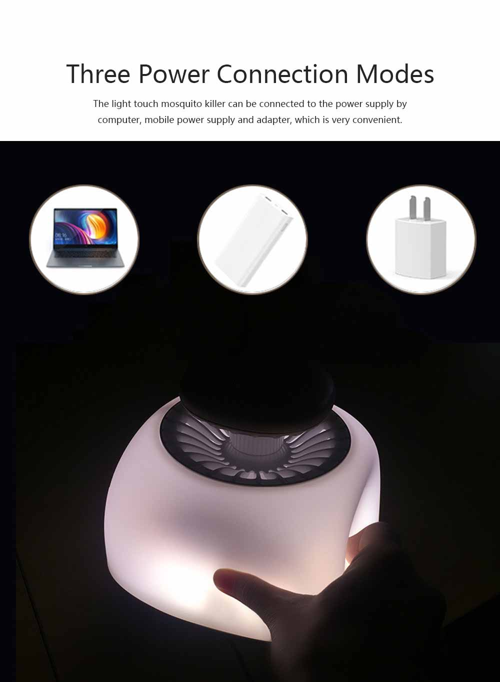 Silent Mosquito Repellent for Baby Pregnant Women Elderly Intelligent Light Control Mosquito-killing Lamp 5
