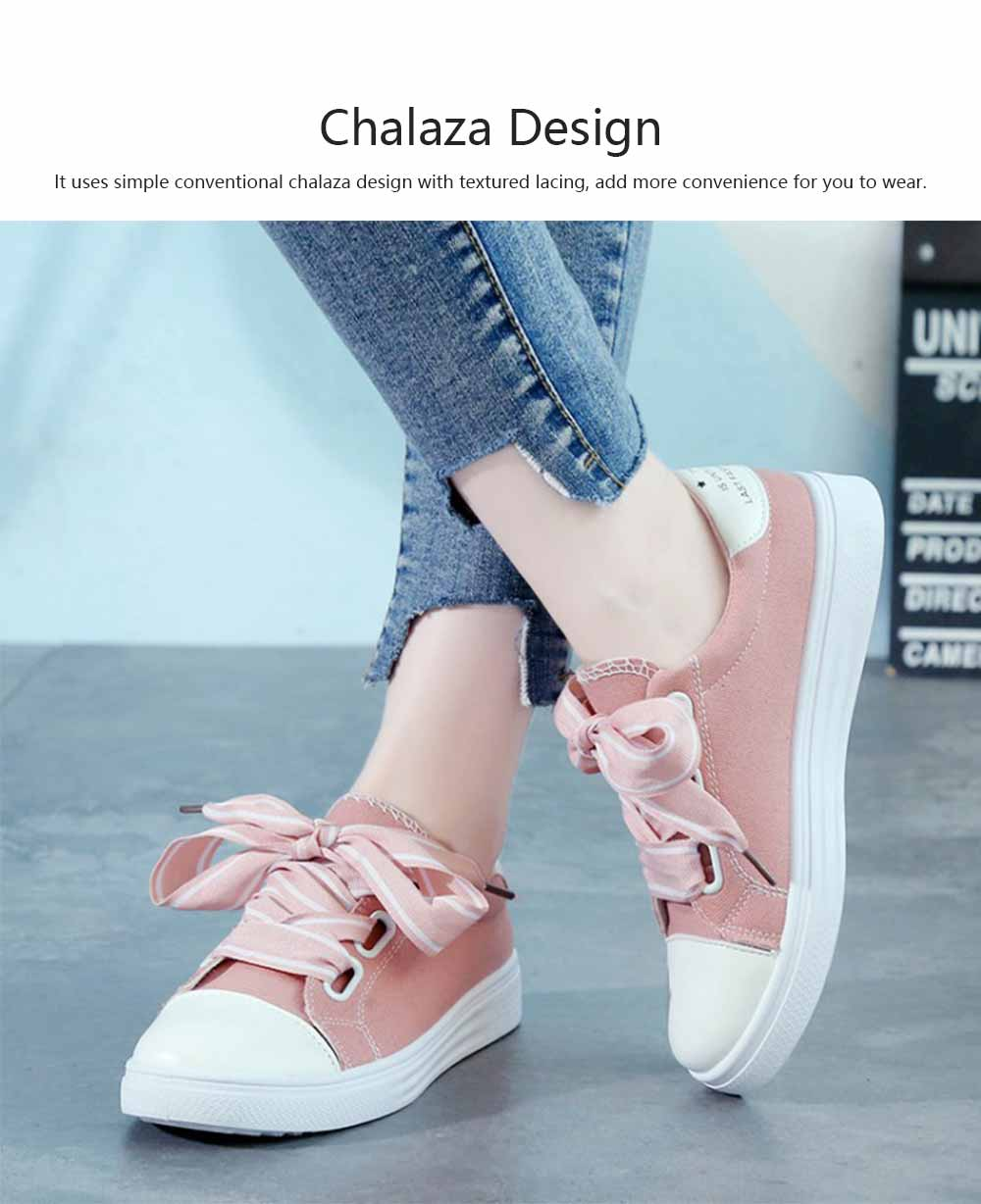 Low Tops Canvas Shoes for Women and Girls Fashion Style Breathable Canvas Microfiber Lining Rubber Sole Chalaza sneakers 4