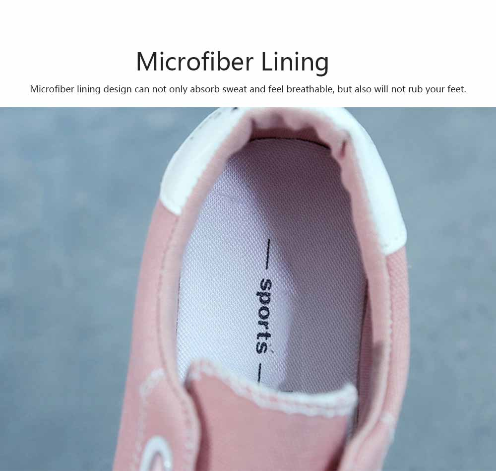 Low Tops Canvas Shoes for Women and Girls Fashion Style Breathable Canvas Microfiber Lining Rubber Sole Chalaza sneakers 3