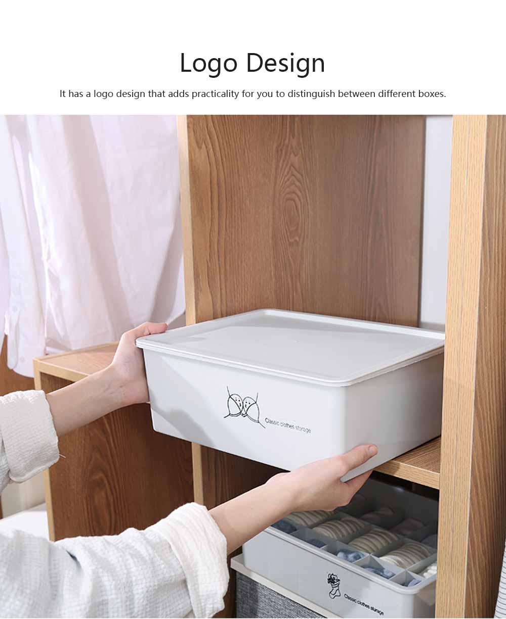 Compartmentalized Storage Boxes Higher Bottom Sunken Design Concise Style Underwear Bra and Socks Storage Cases 2