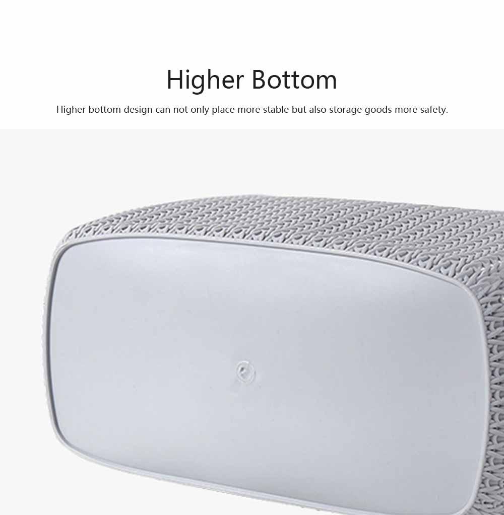 Compartmentalized Storage Boxes Higher Bottom Sunken Design Concise Style Underwear Bra and Socks Storage Cases 10
