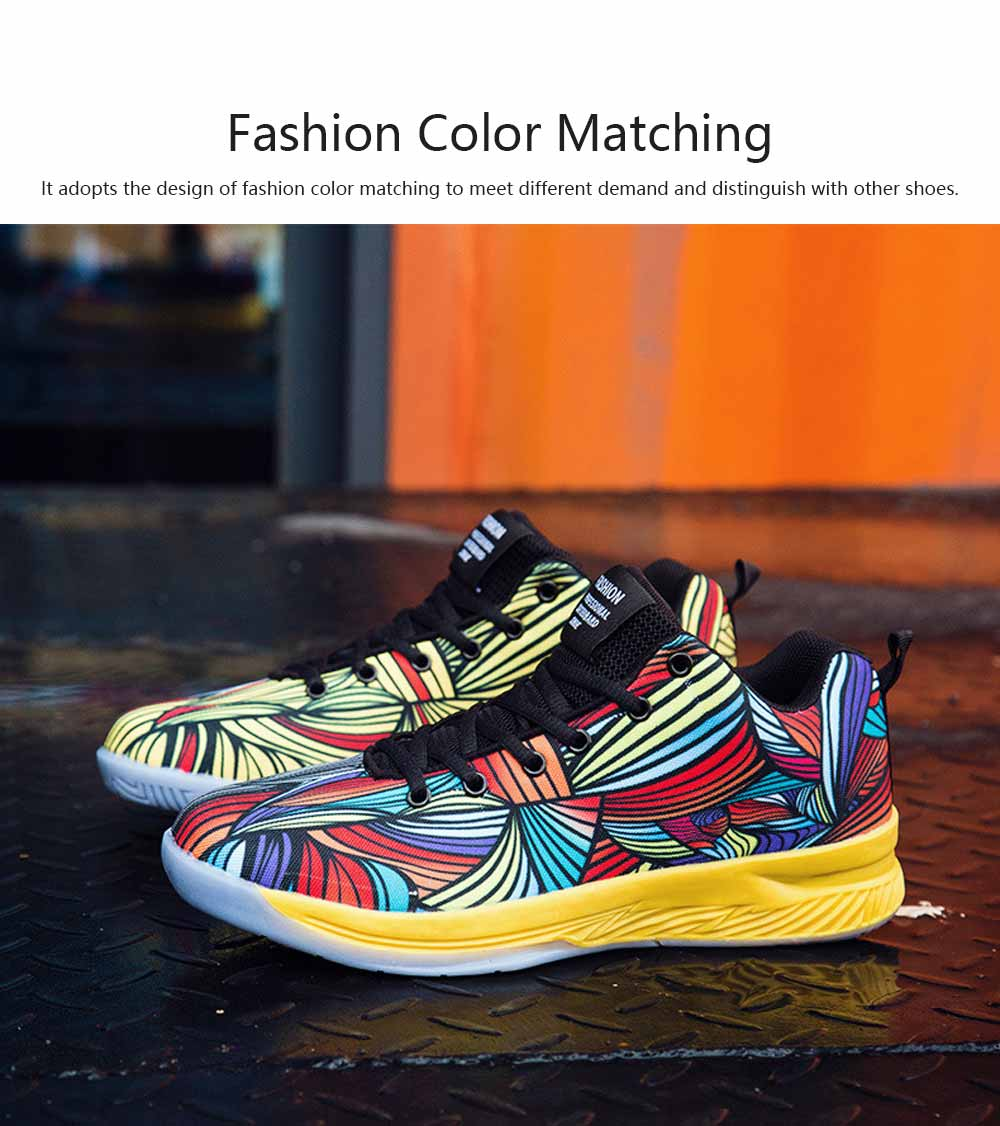 Comfortable Sports Shoes for Men Fashion Color Matching Microfiber Leather Support and Protect Ankle Sneakers for Four Seasons 1