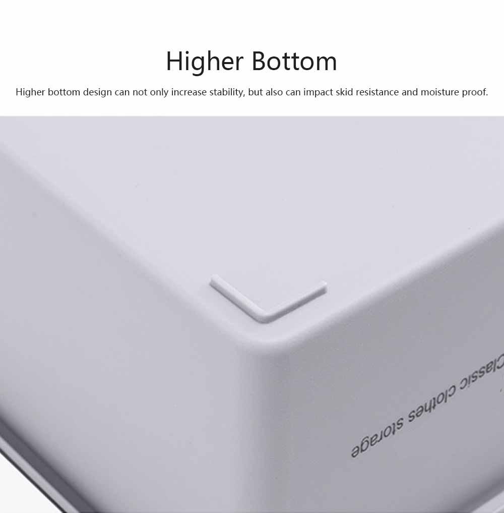 Compartmentalized Storage Boxes Higher Bottom Sunken Design Concise Style Underwear Bra and Socks Storage Cases 3