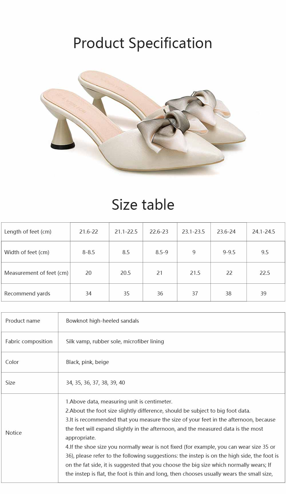 Bowknot High-heeled Sandals for Women Comfortable Breathable Non-slip Wear-resisting Wine Glass Shape High-heeled Slippers 6