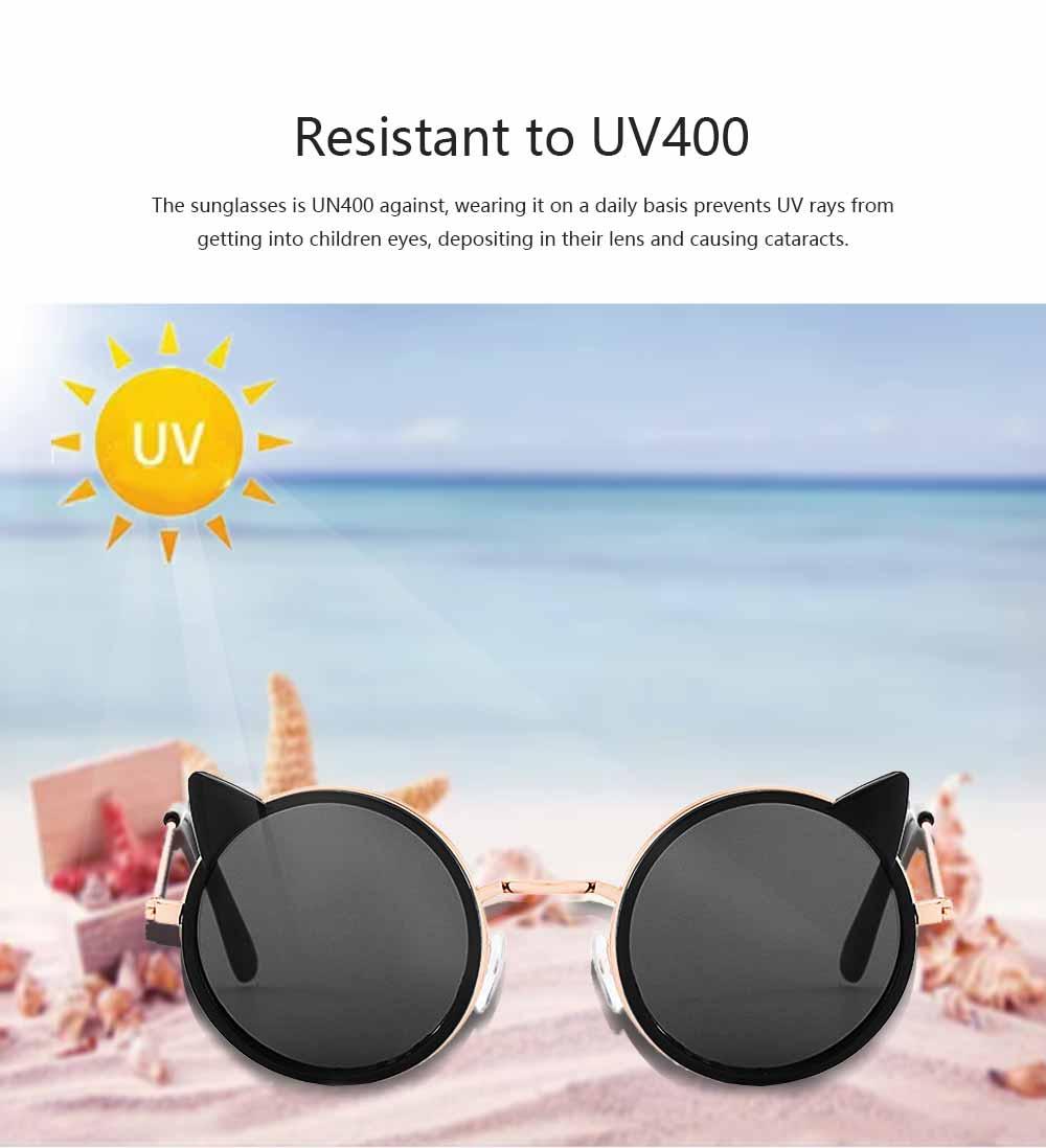 Cartoon Kitten Sunglasses for Children UV Protection Retro Sunglasses for Girls Boys 1