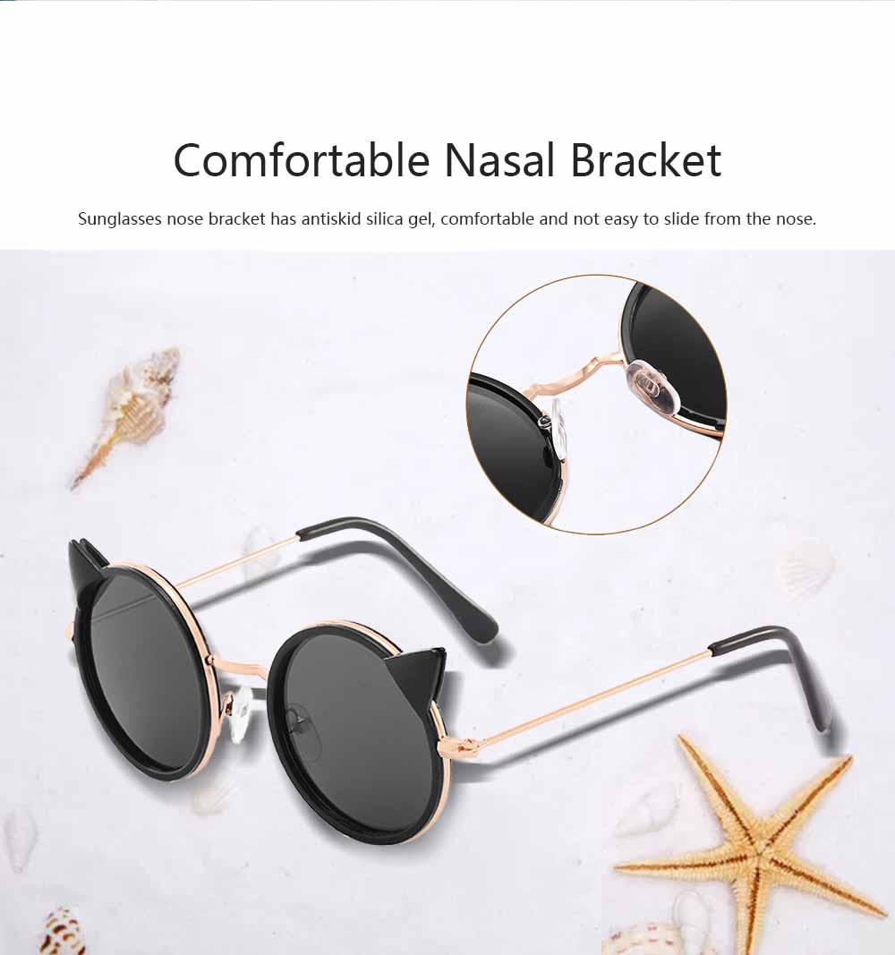 Cartoon Kitten Sunglasses for Children UV Protection Retro Sunglasses for Girls Boys 4