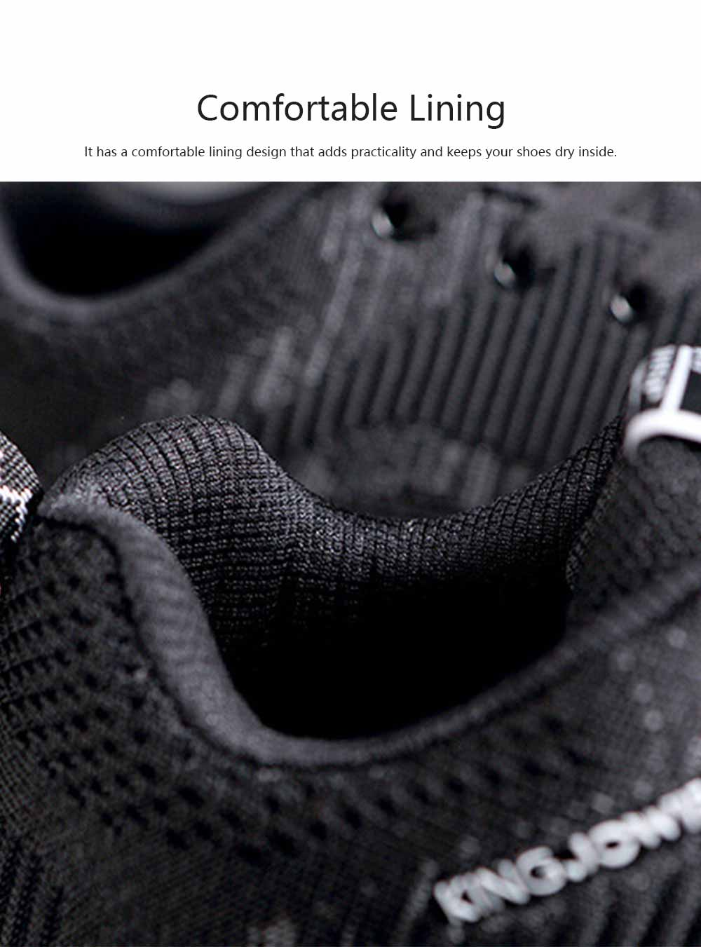 Fly-knit Sneakers for Men Concave Convex Texture Comfortable Lining Shock Absorption Rubber Sole Sports Shoes Spring and Summer 2