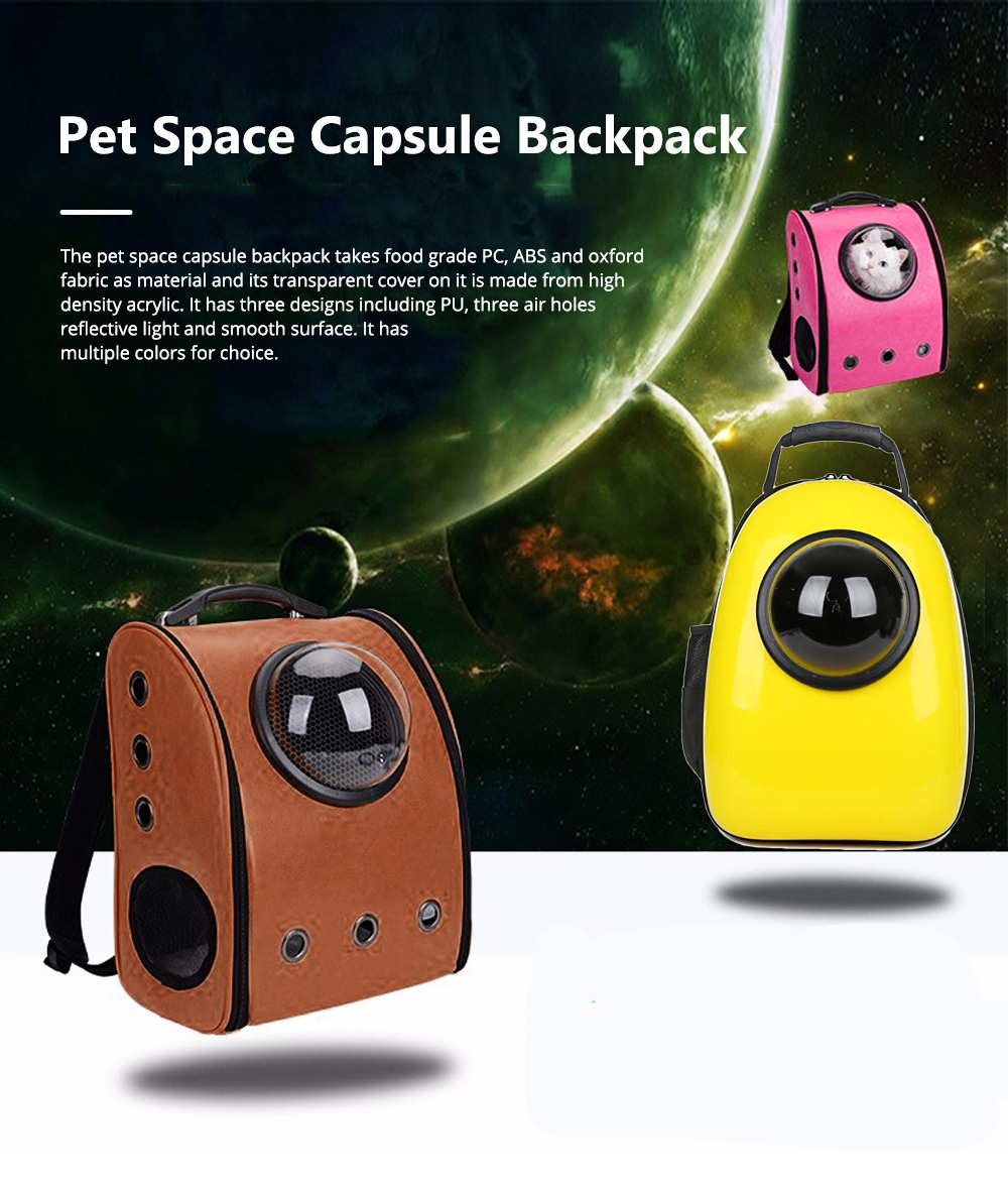 Pure Color Pet Space Capsule Backpack Nontoxic Breathable Knapsack for Dog Cat Going out Pet Products Packsack for Carrying Pet 0