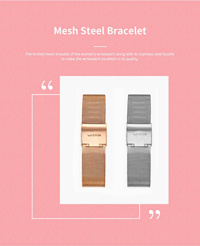 Elegant Quartz Women's Watch with Japan Miyota Movement & Mesh Bracelet Waterproof Mineral Tempered Looking Glass Wristwatch 3